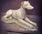 Sparta Greyhound Dog Stoneware Garden Ornament