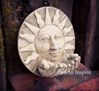 Sparta Sun Hands Bird Feeder Stoneware Garden Ornament