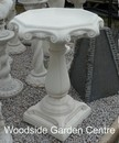 Stone Marlow White Bird Bath
