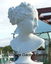 Large White Bust of Pandora Home or Garden Ornament