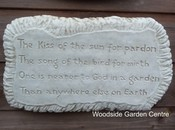 Garden Wall Plaque Kiss of the sun for Pardon