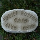 Spoilt Rotten Cats Live Here Garden Wall Plaque