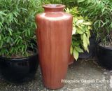 Extra Large Glazed Copper Red Tall Jar