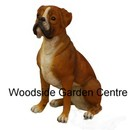 Resin Extra large Real Life Boxer Dog Garden Ornament