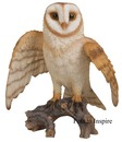 Large Resin Flying Barn Owl Vivid Arts Garden Ornament