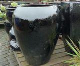 Tall Black Milan Glazed Pot Planters | Woodside Garden Centre | Pots To  Inspire